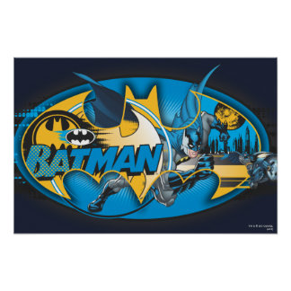 Batman Classic Logo Collage Poster