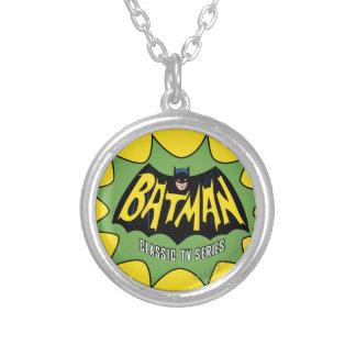 Batman Classic TV Series Logo Round Pendant Necklace