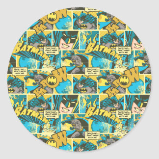 Batman Comic Capers Pattern 2 Stickers