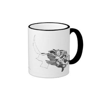 Batman Comic Lines Ringer Mug