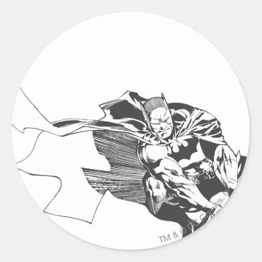 Batman Comic Lines Sticker