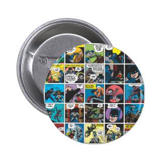 Batman Comic Panel 5x5 6 Cm Round Badge