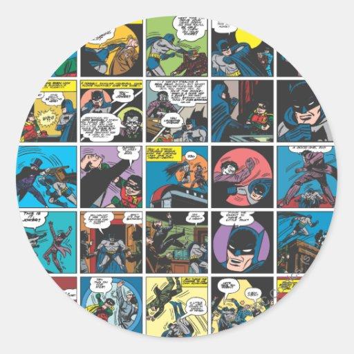 Batman Comic Panel 5x5 Stickers