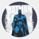 Batman Comic - Vintage Full View Round Sticker