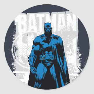 Batman Comic - Vintage Full View Round Sticker