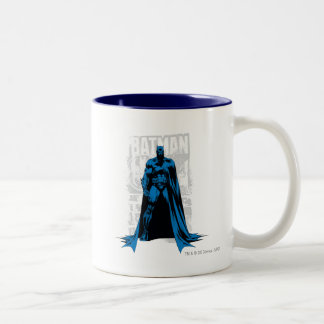 Batman Comic - Vintage Full View Two-Tone Coffee Mug