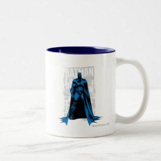Batman Comic - Vintage Full View Two-Tone Mug