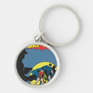 Batman Comic - with Robin Silver-Colored Round Key Ring