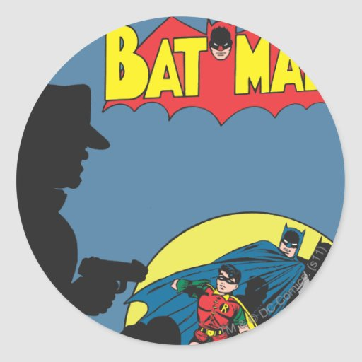 Batman Comic - with Robin Sticker