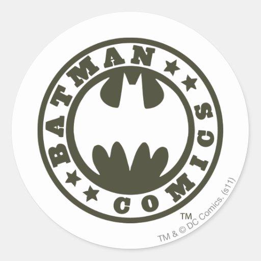 Batman Comics Round Sticker