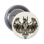 Batman Cowl and Skull Crest 6 Cm Round Badge