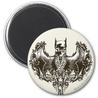 Batman Cowl and Skull Crest 6 Cm Round Magnet