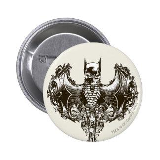 Batman Cowl and Skull Crest Pins