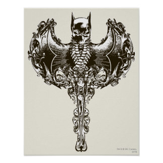 Batman Cowl and Skull Crest Poster
