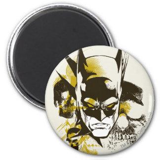Batman Cowl and Skulls 6 Cm Round Magnet