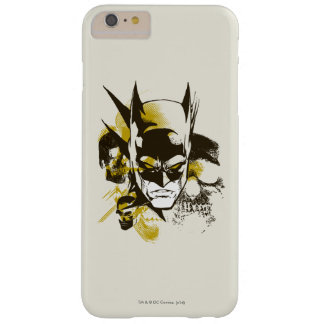 Batman Cowl and Skulls Barely There iPhone 6 Plus Case