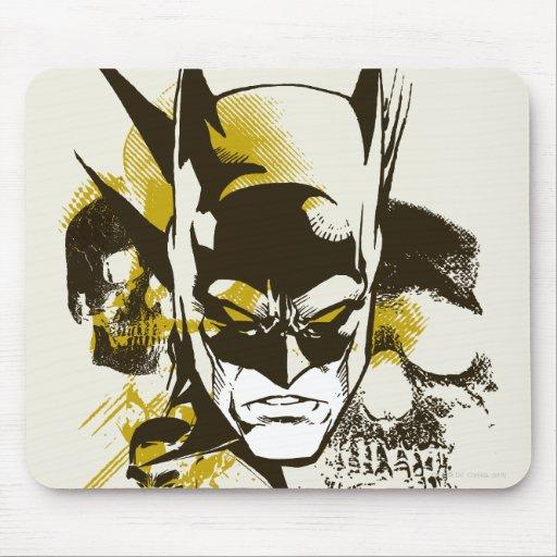 Batman Cowl and Skulls Mouse Pads