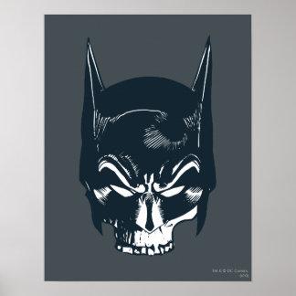 Batman Cowl Skull Icon Poster