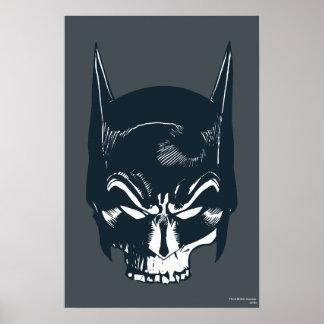 Batman Cowl/Skull Icon Poster