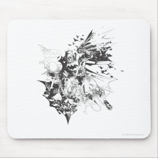 Batman Crazy Collage Mouse Pad