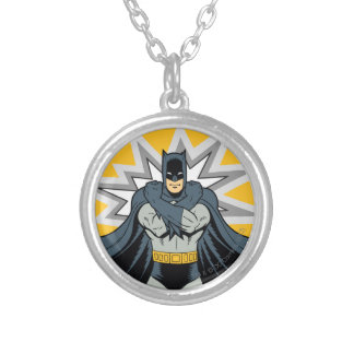 Batman Cross Arms Silver Plated Necklace