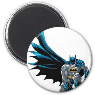 Batman Crouches 6 Cm Round Magnet
