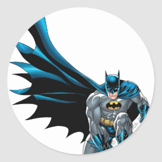 Batman Crouches Classic Round Sticker
