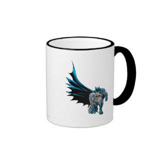 Batman Crouches Ringer Mug