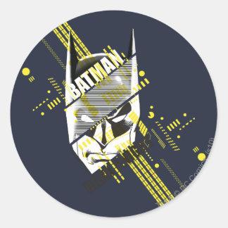 Batman Dark Knight Futuristic Round Sticker