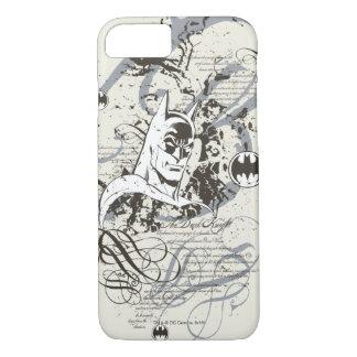 Batman Dark Knight Manuscript Montage iPhone 8/7 Case