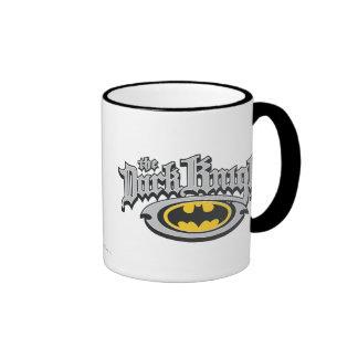 Batman Dark Knight Name and Oval Logo Ringer Mug