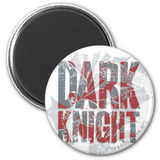 Batman Dark Knight | Name Red Grey Logo 6 Cm Round Magnet