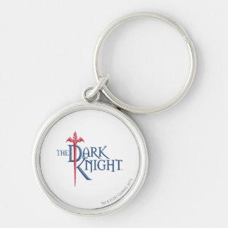 Batman Dark Knight Name Red Sword Logo Silver-Colored Round Key Ring