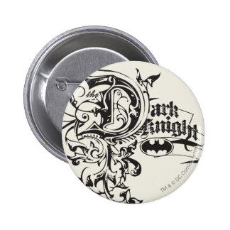 Batman Dark Knight | Ornate Logo 6 Cm Round Badge