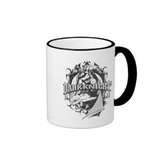 Batman Dark Knight White Grey Outline Logo Ringer Mug