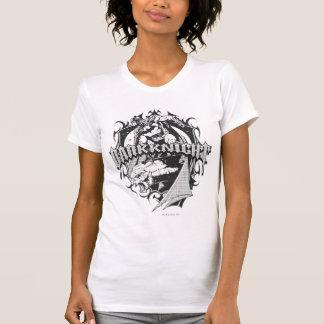 Batman Dark Knight | White Grey Outline Logo T-shirt
