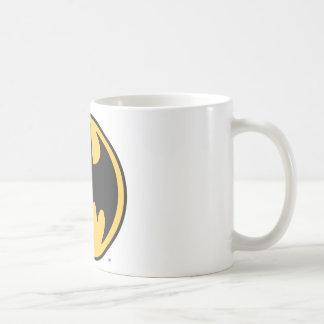 Batman Dark Yellow Circle Logo Basic White Mug
