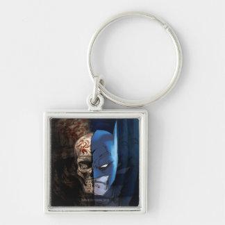 Batman de los Muertos Silver-Colored Square Key Ring