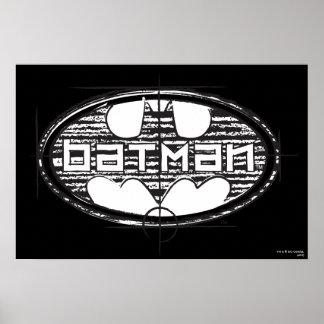 Batman Draft Logo Poster