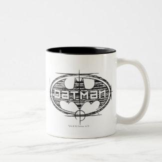 Batman | Draft Logo Two-Tone Coffee Mug