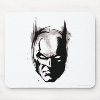 Batman Drawn Face Mouse Pad