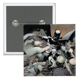 Batman Fighting Arch Enemies 15 Cm Square Badge