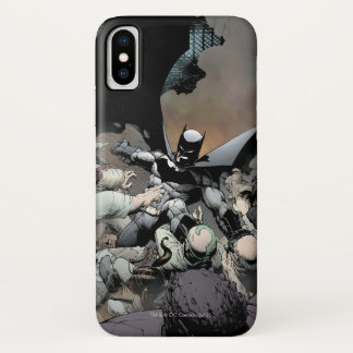Batman Fighting Arch Enemies iPhone X Case