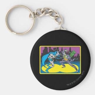 Batman Fights Joker Basic Round Button Key Ring