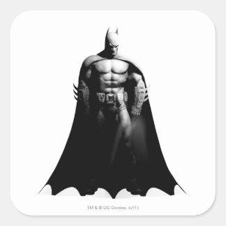 Batman Front View B/W Square Sticker