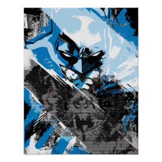 Batman Future Cityscape Montage Posters