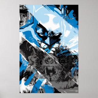 Batman Future Cityscape Montage Poster