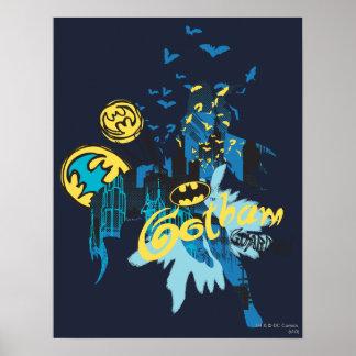 Batman Gotham Guardian Notebook Sketch Poster