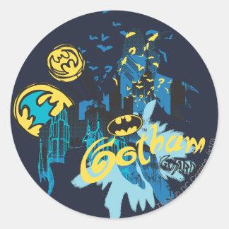 Batman Gotham Guardian Notebook Sketch Round Sticker