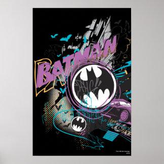Batman Gotham Skyline Sketch Poster